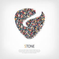 stone liberty shape vector