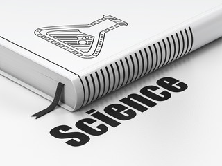 Science concept: book Flask, Science on white background