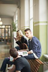 Teenagers in school, Stockholm, Sweden