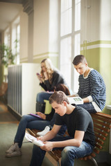 Teenagers in school, Stockholm, Sweden