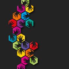 collection mains colorés