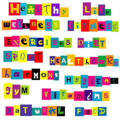 Healthy life background