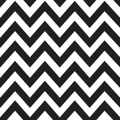 Classic zigzag lines pattern on black. Vector design