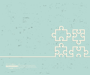Creative vector puzzle. Art illustration template background. For presentation, layout, brochure, logo, page, print, banner, poster, cover, booklet, business infographic, wallpaper, sign, flyer.