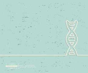 Creative vector DNA. Art illustration template background. For presentation, layout, brochure, logo, page, print, banner, poster, cover, booklet, business infographic, wallpaper, sign, flyer.