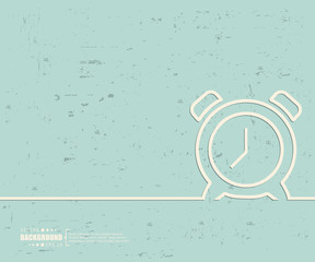Creative vector alarm clock. Art illustration template background. For presentation, layout, brochure, logo, page, print, banner, poster, cover, booklet, business infographic, wallpaper, sign, flyer.