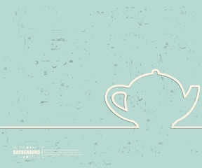 Creative vector teapot. Art illustration template background. For presentation, layout, brochure, logo, page, print, banner, poster, cover, booklet, business infographic, wallpaper, sign, flyer.