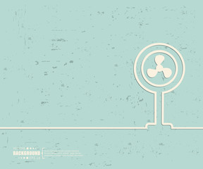 Creative vector ventilator. Art illustration template background. For presentation, layout, brochure, logo, page, print, banner, poster, cover, booklet, business infographic, wallpaper, sign, flyer.