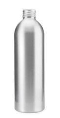 Bottle aluminum on white background , water oil , clipping path