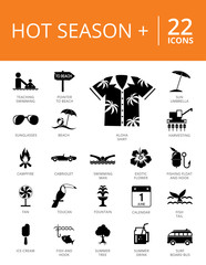 Hot Season Plus Icons Set