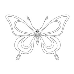 butterfly monochrome contours