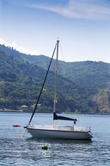 .Sailboat in the sea.