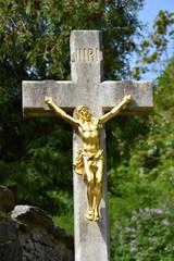 INRI. Holy Cross. Jesus Christ.