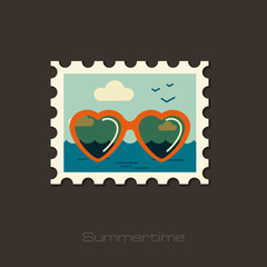 Sunglasses icon. Summer. Vacation