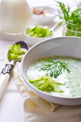 Traditional cold soup