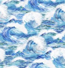 stormy ocean waves
