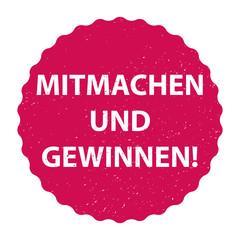 Fototapeta Mitmachen und gewinnen! - Sticker