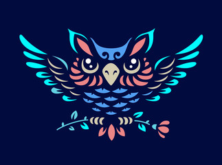 Vector owl illustration