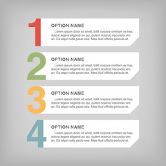 Infographic design, options concept. Template for Business presentation