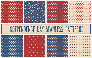 American stars seamless patterns