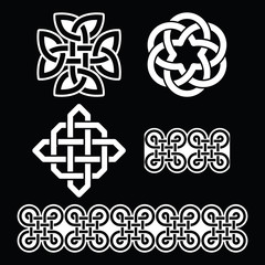 Celtic Irish white patterns and knots - St Patrick's Day