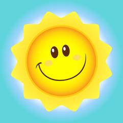 Cute Sun Cartoon Mascot Character Simple Flat Design