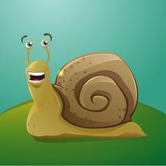 Cartoon happy snail