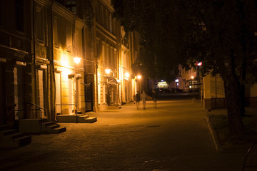 Street city at night