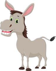 happy cartoon donkey isolated on white background