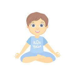 Boy Sitting In Lotus Pose