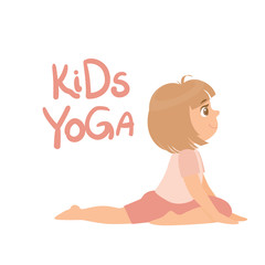 Girl In Yoga Pose With Kids