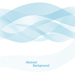 Abstract wavy background. Linear design. Vector illustration.