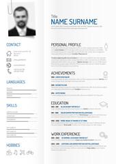 creative minimalist cv / resume template