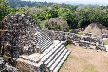 Temples at Caracol in Belize