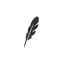 Feather Icon. Vector logo on white background