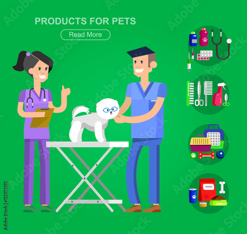 Pet shop  Pets accessories and vet store