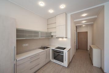 Modern interior of the apartment. Studio.