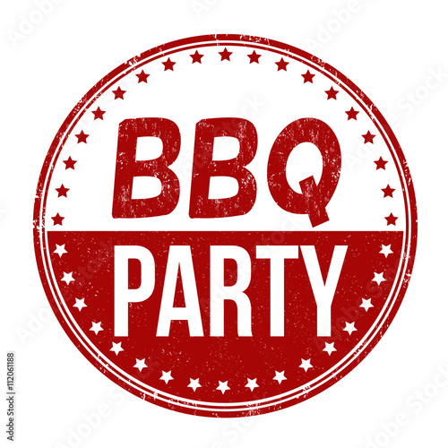 Barbecue party stamp fichier vectoriel libre de droits sur la ban - Organiser barbecue party ...