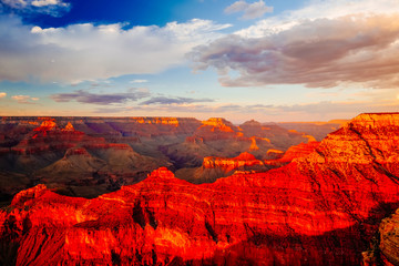Fotorolgordijn Rood Mather Point, View Point, Grand Canyon National Park, Arizona, U
