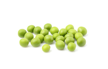 Green peas isolated.