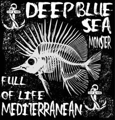 Animal sea tee graphic