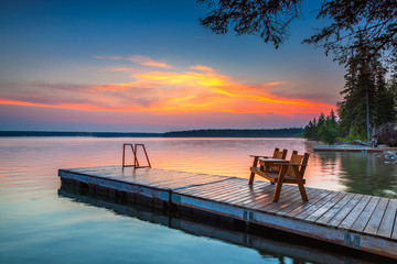 Sunrise over the dock
