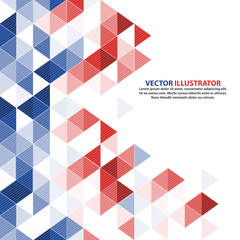 Vector geometric background in France, Italy, America, Thailand
