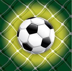 Soccer ball and goals soccer