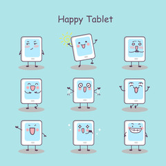 Happy cartoon digital tablet pc