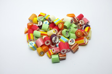 Colorful assorted candies