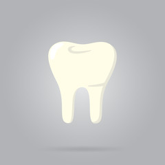 Tooth logo isolated, raster illustration. Human tooth.
