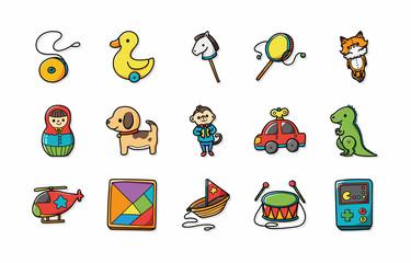 Children toys icons set,eps10