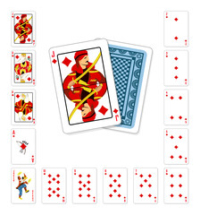 Playing cards diamond Jack