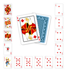 Playing cards diamond King